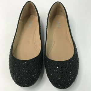MIA Clarissa Beaded Flat Shoes Slip On Size 7 M